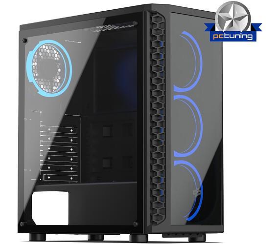 SilentiumPC skříň MidT Signum SG1X TG RGB / 2x USB 3.0/ 4x 120mm fan/ čelo a bok z tvrzeného skla/ RGB podsvícení/ černá (SPC233)