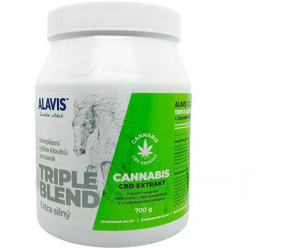 Alavis Triple Blend Extra silný+Cannabis CBD Extr.700g