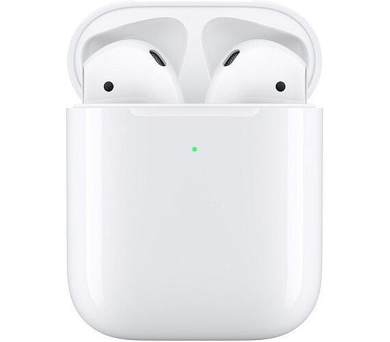 Apple AirPods bezdrátová sluchátka s bezdrátově nabíjecím pouzdrem (2019) bílá (MRXJ2ZM/A)