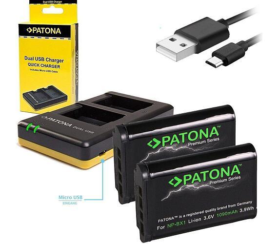 PATONA nabíječka Foto Dual Quick Sony NP-BX1 + 2x baterie 1090mAh USB (PT1974B)
