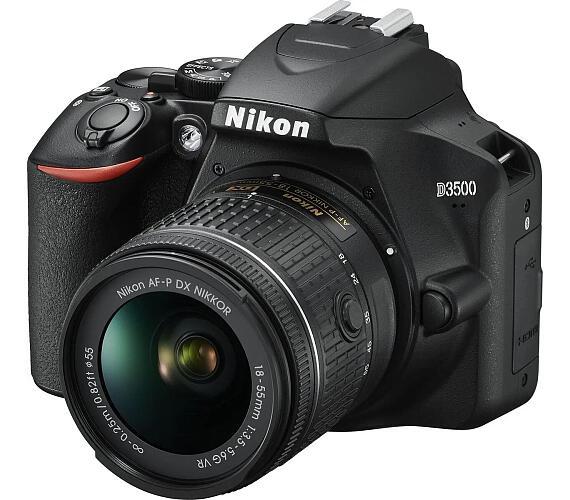 NIKON zrcadlovka D3500 + 18-55mm VR BLACK (VBA550K001)