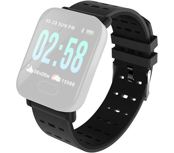 IMMAX řemínek pro chytré hodinky SW11/ černý (05045)