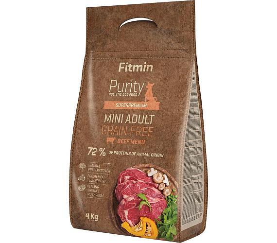 FITMIN dog Purity GF Adult Mini Beef - 4 kg + DOPRAVA ZDARMA