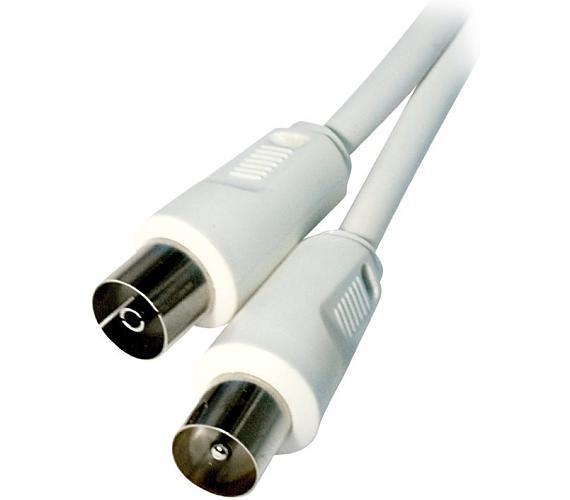 Účastnický TV kabel s přímými konektory M/F.Délka 10m (HQB-030-10)