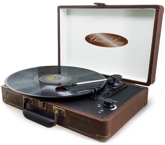 Soundmaster VCS3 gramofon/ 3x LP desky v balení/ Hliníkový přenosný kufr