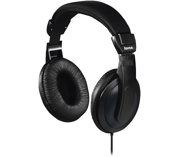 HAMA sluchátka Basic4TV/ drátová/ uzavřená/ k TV/ 3,5 mm/6,35 jack/ citlivost 113 dB/mW/ černá (1840