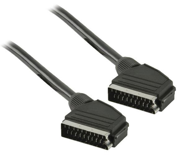 VALUELINE kabel SCART/ zástrčka SCART - zástrčka SCART/ černý/ 2m (VLVT31000B20)