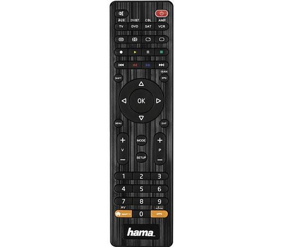 HAMA univerzální dálkový ovladač 8v1/ pro více než 1000 značek/ SMART TV/ černý (12307)