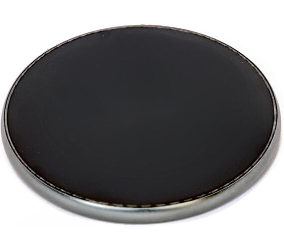 CRONO nabíječka CR-001/ bezdrátová/ Qi technologie/ 10W/ 9V/1,64A; 5V/2A/ 9,6 x 9,6 x 0,7 cm/ černá