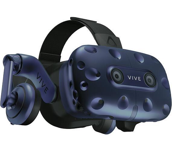 HTC VIVE PRO Full kit Brýle pro virtuální realitu/ 2x externí snímače pohybu / 2x ovládač / link box / kompletní kabeláž (99HANW003-00)