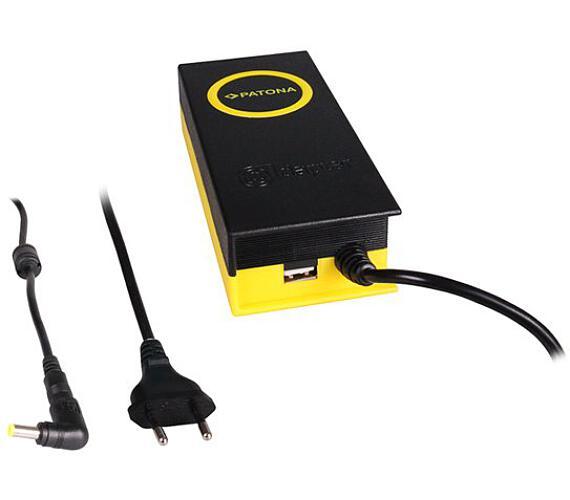PATONA napájecí adaptér k ntb/ 19V/4,74A 90W/ konektor 5,5x2,5mm/ + výstup USB (PT2605) + DOPRAVA ZDARMA