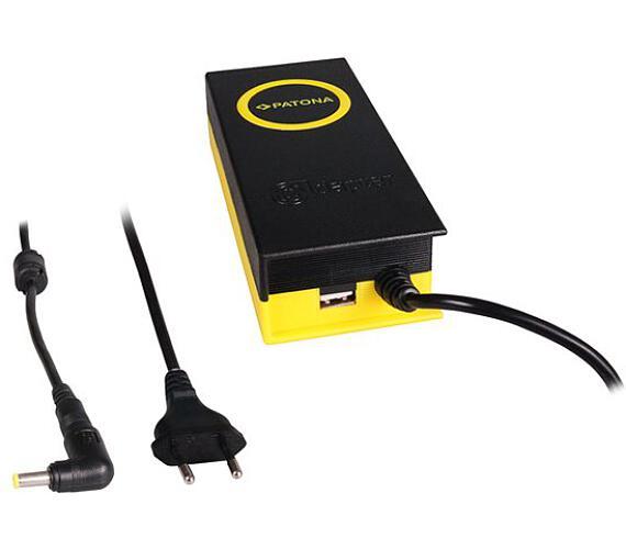 PATONA napájecí adaptér k ntb/ 19V/4,7A 90W/ konektor 5,5x3mm/ + výstup USB (PT2606) + DOPRAVA ZDARM