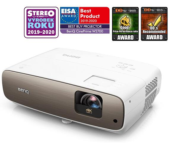 BenQ W2700 4K UHD/ DLP projektor/ HDR/ 2000ANSI/ 30.000:1/ 2x HDMI/ USB (9H.JKC77.37E)