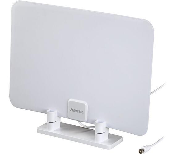 HAMA pasivní DVB-T/T2 pokojová anténa/ 15 dB/ VHF/UHF/FM/ DAB/DAB+/ ultra plochá/ 470-862 MHz/ bílá (121668)