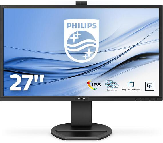 "Philips LCD 271B8QJKEB 27"" IPS/1920x1080@60Hz/50M:1/5ms/250 cd/m2/D-Sub/DVI/HDMI/DP/USBB Hub/Repro/webcam (271B8QJKEB/00)"
