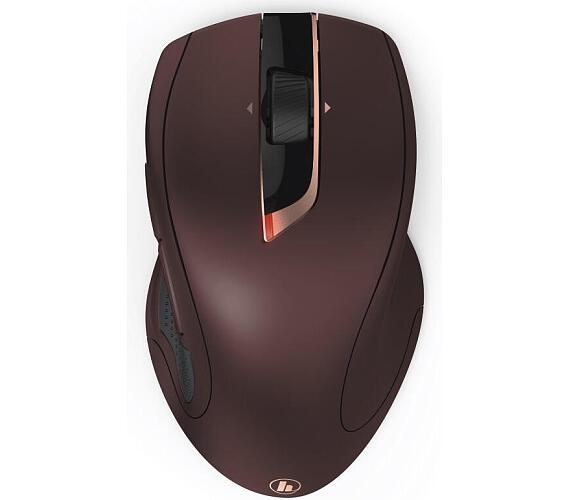 Hama myš MW-900/ bezdrátová/ laserová/ auto DPI 800-2400/ 7 tlačítek/ USB/ bordó (182673)