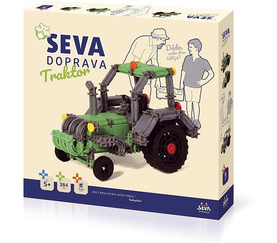 Seva Doprava Traktor 384 dílků + DOPRAVA ZDARMA