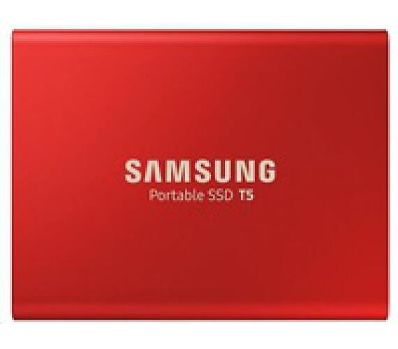 Samsung Externí SSD disk - 1 TB - červený (MU-PA1T0R/EU)