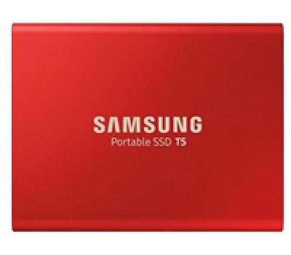 Samsung Externí SSD disk - 500 GB - červený (MU-PA500R/EU)