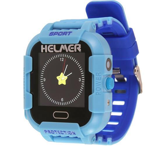 HELMER dětské hodinky LK 708 s GPS lokátorem/ dotykový display/ IP67/ micro SIM/ kompatibilní s Android a iOS/ modré (Helmer LK 708 B)