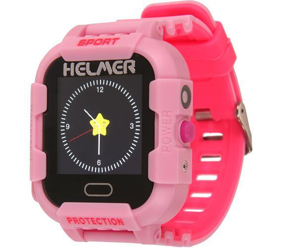 HELMER dětské hodinky LK 708 s GPS lokátorem/ dotykový display/ IP67/ micro SIM/ kompatibilní s Android a iOS/ růžové (Helmer LK 708 P)