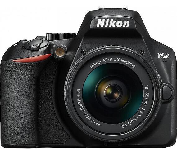 NIKON D3500 Black + 18-140 VR + ČIŠTĚNÍ ČIPU ZDARMA!