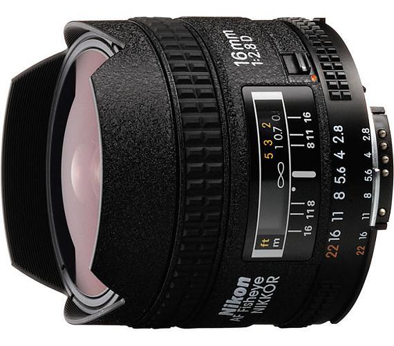 Nikon AF FX Fisheye-Nikkor 16mm f/2.8D + DOPRAVA ZDARMA