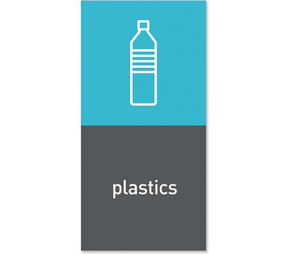 """Simplehuman magnetický štítek na odpadkový koš - plasty """"plastics"""""""