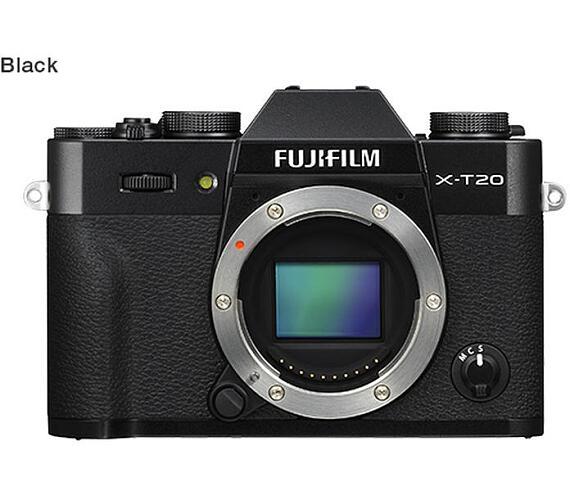 Fujifilm X-T20 tělo - 24,3 MP - Black (16542555)