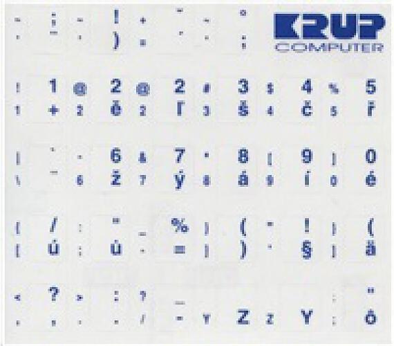 PremiumCord Česká přelepka na klávesnici - bílá (pkczb)