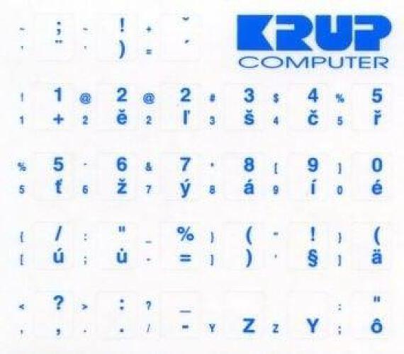 PremiumCord Česká přelepka na klávesnici - modrá (pkczM)
