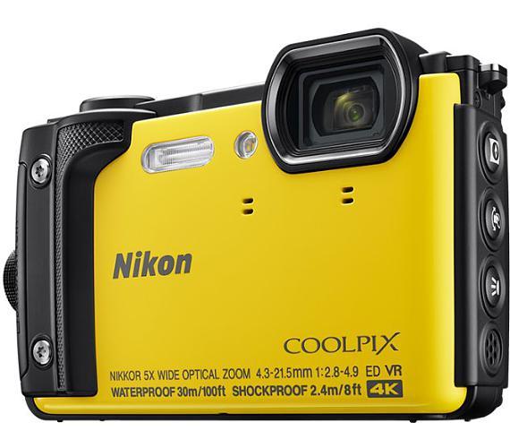 NIKON COOLPIX W300 Yellow + 2 in 1 plovoucí popruh + DOPRAVA ZDARMA