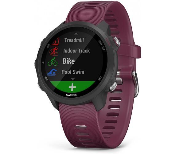 Garmin GPS sportovní hodinky Forerunner 245 Optic červená (010-02120-11)