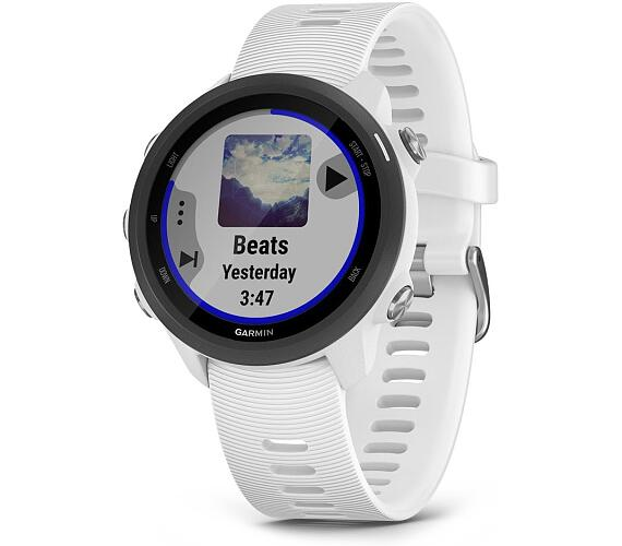Garmin GPS sportovní hodinky Forerunner 245 Music Optic bílá (010-02120-31)