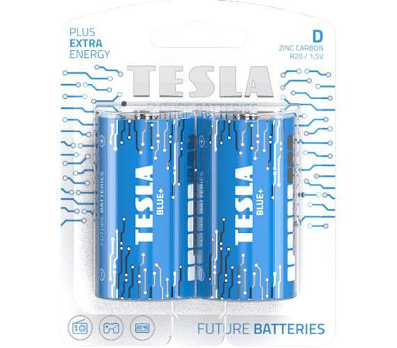 TESLA BLUE+ Zinc Carbon baterie D (R20
