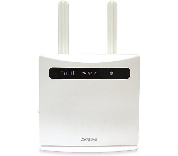 STRONG 4G LTE Router 300/ Wi-Fi standard 802.11 b/g/n/ 300 Mbit/s/ 2,4GHz/ 4x LAN (1x WAN)/ USB/ SIM slot/ bílý (4GROUTER300)