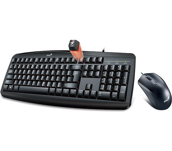 GENIUS Smart KM-200/ Drátový set/ USB/ černá/ CZ+SK layout (31330003403)