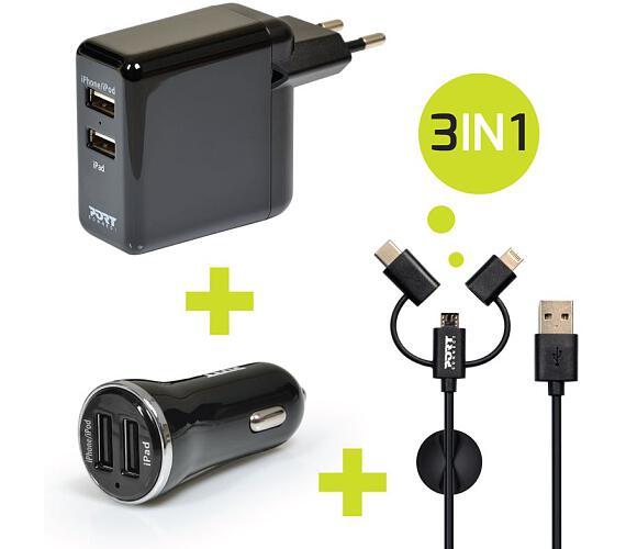 PORT CONNECT nabíječka 2x USB + DOPRAVA ZDARMA