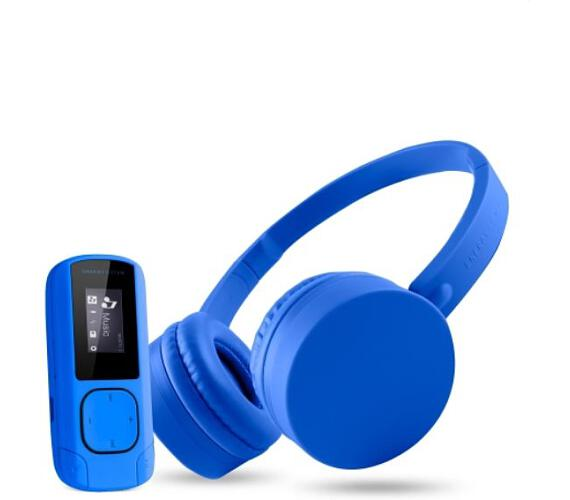 ENERGY Music Pack Bluetooth Blue - MP3 Clip Bluetooth + Headphones BT1 (443857) + DOPRAVA ZDARMA
