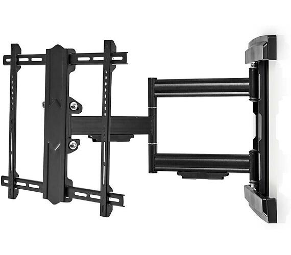 """Nástěnný TV Držák Full Motion / 37-80 """" / Maximální podporovaná hmotnost obrazovky: 50 kg / Naklápěcí / Otočné / Minimální vzdálenost od stěny: 70 mm / Maximální vzdálenost od stěny: 650 mm / 3 Otočné Body / Ocel / Černá + DOPRAVA ZDARMA"""