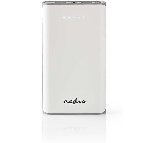 NEDIS UPBK15000WT - Powerbanka / 15000 mAh / 2 výstupy USB-A 3.1 A / Vstup Micro USB / Bílá barva