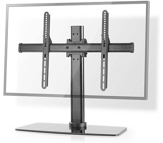 """TV stojan Full Motion / 32-65 """" / Maximální podporovaná hmotnost obrazovky: 45 kg / Naklápěcí / Otočné / Nastavitelné výšky / Ocel / Sklo / Černá + DOPRAVA ZDARMA"""