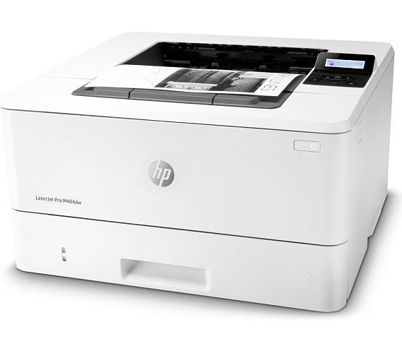 HP LaserJet Pro 400 M404dw/ A4/ 38ppm/ 4800x600/ USB/ WiFi/ LAN/ duplex/ bílá (W1A56A#B19) + DOPRAVA ZDARMA