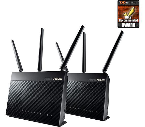 Asus RT-AC68U - 2pck - AC1900 Dual-B USB3.0 Gb (90IG00C0-BO3000) + DOPRAVA ZDARMA
