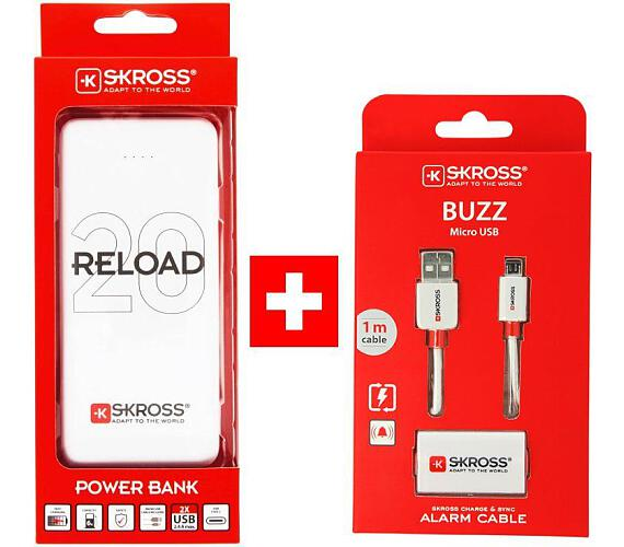 SKROSS PROMO powerbanka Reload 20 + Alarm USB kabel