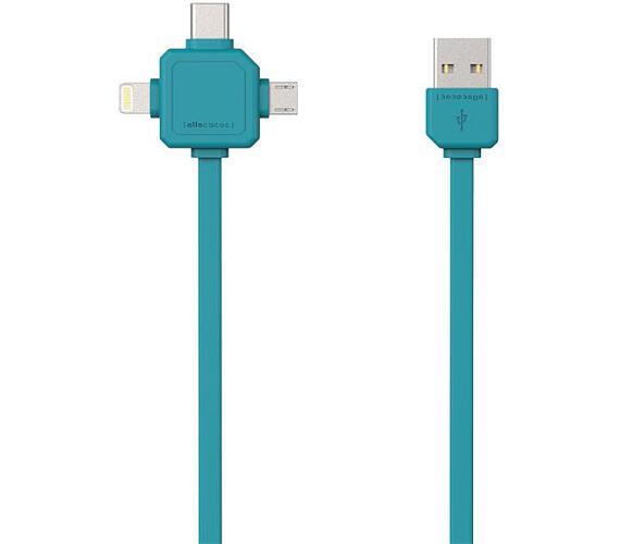 Allocacoc USB/Micro USB/USB C-TYPE/Lightning modrý
