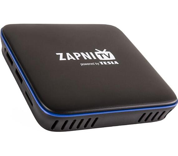 TESLA MediaBox ZAPNI TV/ 4K Ultra HD a HDR10/HLG/VP9/ H.265/HEVC/ KODI/ HDMI/ 2x USB/ LAN/ Wi-Fi/ Android 7.1.2/ černý (MMCTEZA001)