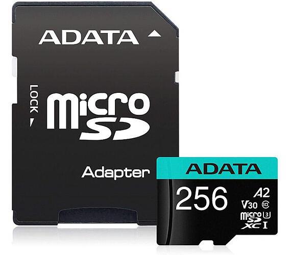 ADATA MicroSDXC 256GB U3 V30S + adapter (AUSDX256GUI3V30SA2-RA1)