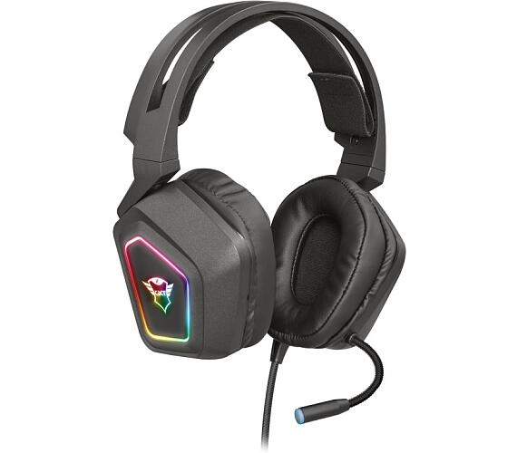Trust GXT 450 Blizz headset / herní / náhlavní / drátový / podsvícený / 7.1 / 40mm měniče / mikrofon / USB 2.0 / černý (23191)