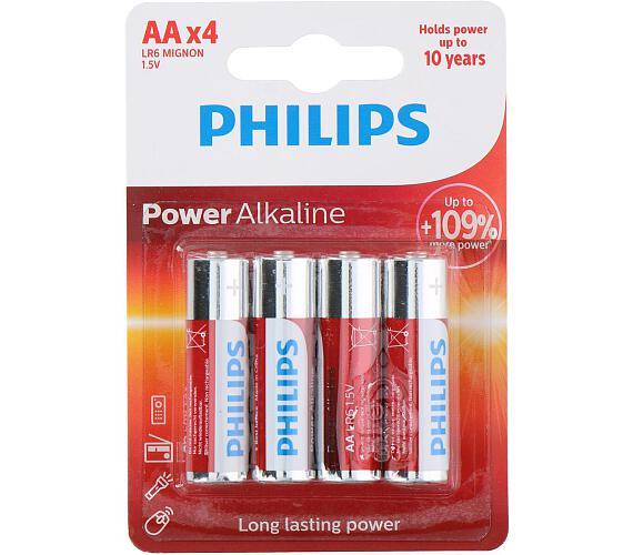 Baterie Philips AA(LR6) 1,5V 4ks na kartě Alkaline
